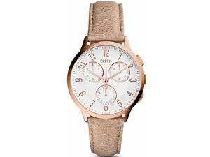 Women's Fossil Abilene Chronograph Leather Band Watch CH3016