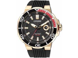 Men's Citizen Eco-Drive Black Diver's Watch AW1422-09E