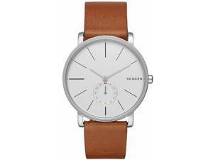Men's Skagen Hagen Brown Leather Watch SKW6273