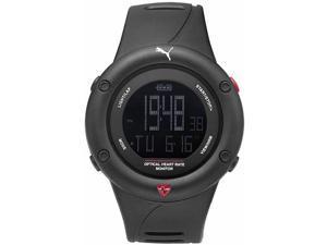 Men's Puma Optimal Cardiac Heart Rate Chronograph Silicone Watch PU911291001