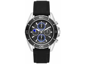 Men's Michael Kors Jetmaster Black Chronograph Watch MK8485