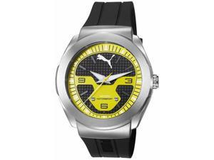 Men's Puma Motorsport Black And Yellow Silicone Strap Watch PU103931003