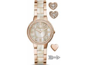 Fossil Women's Virginia ES3965SET Rose Gold Stainless-Steel Quartz Watch