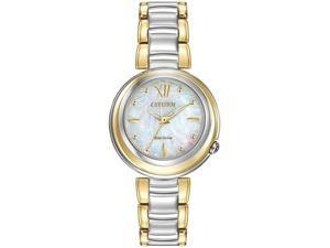 Women's Two-Tone Citizen Sunrise Eco-Drive Watch EM0337-56D