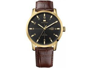 1710329 Tommy Hilfiger Gold-Tone Leather Mens Watch