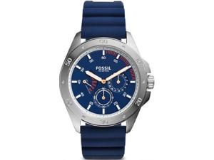 Men's Fossil Sport 54 Blue Silicone Chronograph Watch CH3062