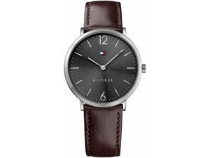 Mens Tommy Hilfiger Sophisticated Sport Brown Leather Strap Watch 1710352