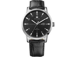Mens Tommy Hilfiger George Leather Strap Watch 1710330