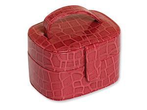 Red Crocodile PVC Jewelry Case