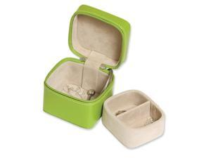 Lime Green Zippered Mini Jewelry Case
