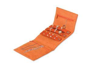Orange Textured PVC Jewelry Roll