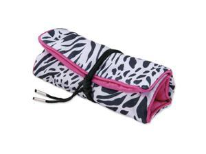 Pack of 5, Zebra Print with Pink Trim Jewelry Roll