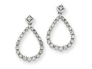 14K White Gold Earring Diamond quality AA (I1 clarity, G-I color)
