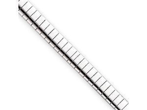 7.25in Rhodium-plated 6mm Omega Bracelet