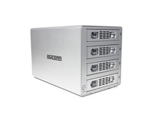 "Dyconn Quartz 4 - Quad 3.5"" SATA HDD 4-bay RAID Enclosure (Normal, RAID 0, RAID 1, RAID 3, RAID 5, RAID 10, Big/Large/Combine) to USB 3.0 & eSATA"