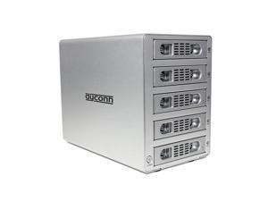 """Dyconn Quartz 5 - Five 3.5"""" SATA HDD 5-bay RAID Enclosure (Normal, RAID 0, RAID 1, RAID 3, RAID 5, RAID 10, Big/Large/Combine) to USB 3.0, Firewire 400/800 (1394a/b) & eSATA"""