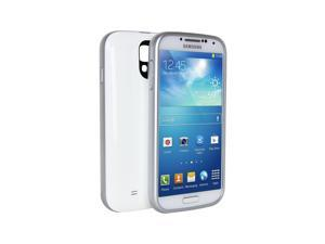 Dyconn X4 (SGS4CW) White Protective Power Case for Samsung Galaxy S4 (i9500) w/ additional 3000mAh Battery Extender for a total of 5600mAh.