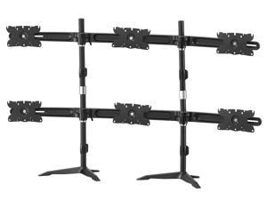 Dyconn Full Aluminum Argentavis Adjustable height Universal 6 LED Display Monitor Mount Stand