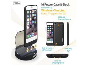 Dyconn i6 3200mAh Power Case For Apple Iphone 6 With  Wireless Charging Dock