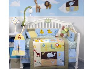 SoHo Designs SoHo Casey's ABC &123 Baby Crib Nursery Bedding Set 14 pcs included Diaper Bag with Changing Pad, Accessory Case & Bottle Case