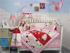 SoHo Designs Chasing Butterflies Baby Crib Nursery Bedding Set 14 pcs included Diaper Bag with Changing Pad, Accessory Case & Bottle Case