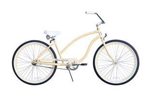 "Firmstrong Chief Single Speed,  Vanilla - Women's 26"" Beach Cruiser Bike"