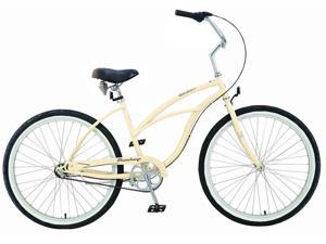"Firmstrong Urban Lady 3 Speed,  Vanilla - Women's 26"" Beach Cruiser Bike"