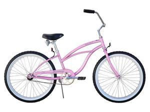 "Firmstrong Urban Lady 24"" Single Speed,  Pink - Women's 24"" Beach Cruiser Bike"