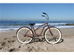 "Firmstrong Urban Boutique Copperesque Single Speed - Women's 26"" Beach Cruiser Bicycle"