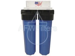2 stage big blue whole house water filter sediment & carbon