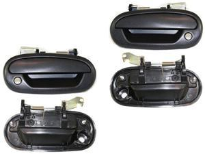 Ford F150 250 97 98 99 00 01 02 03 Front Outer Textured Black Door Handle Pair