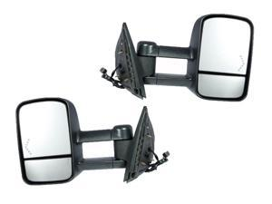 Chevy Silverado Sierra 07 - 13 Towing Power Heated With Signal Light Mirror Pair