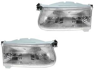 Ford Explorer 95-01 Mountaineer 97 Head Light Lamp F5Tz13008A F5Tz13008B Pair