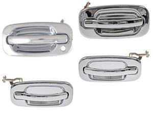 Chevrolet Avalanche Suburban Tahoe Silverado Outside Chrome Door Handle Set Of 4