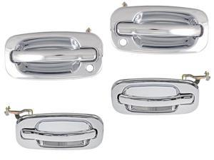 Chevrolet Avalanche Suburban Tahoe Silverado Outer Chrome Door Handle Set Of 4