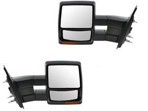 Ford F150 F-150 07 - 14 Textured Power Heated Towing Side View Mirror Pair Set