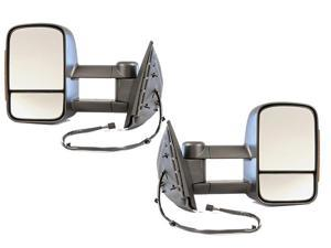 Chevy Silverado Sierra Truck 07 - 13 Tow Power Heat LED Signal Light Mirror Set