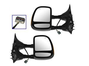Ford F 250 350 450 550 Super Duty 99 - 07  Power Heat Tow Signal Mirror Pair Set
