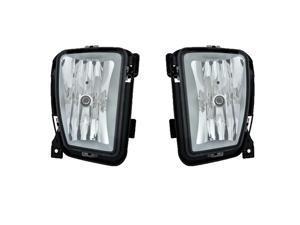 Ram Pick Up 1500 2013 Fog Light Lamp With Bulb Pair 68104820Ab 68104821Ab