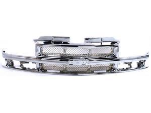 Chevy Chevrolet S10 Blazer 98 99 00 01 02 03 04 Grille Grill All Chrome 15048519