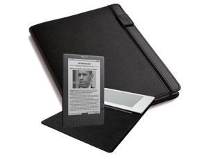 Kindle DX Leather Cover Black Fits 9.7 Display For DX and 2nd Gen DXs