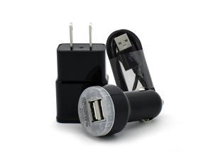 Extra Long 6FT Micro USB 2.0 Cable + Home Wall Plug + 2.0A Dual Port Car Charger