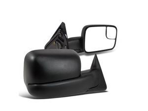 Dodge Ram 1500 2500 3500 Manual Tow Towing Fold Out Black Side Mirrors