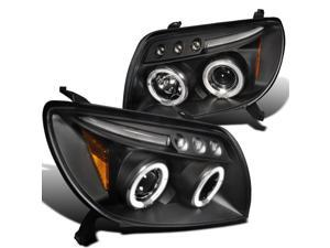 Toyota 4Runner Black Led 2X Halo Projector Head Lights