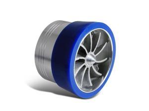 "2.5""~3"" Intake Blue Turbonator Turbo Fan Supercharger Gas Saver Insert"