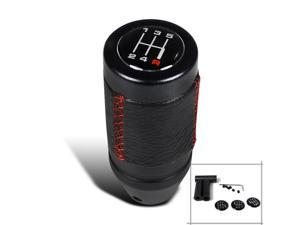 Spec-D Tuning Manual Shift Knob With Red Stitch SK-600RS-SD