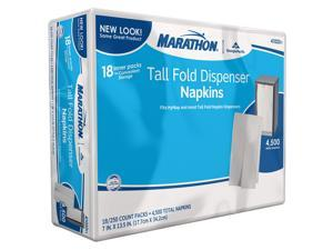Marathon 1-Ply Tall Fold Dispenser Napkins - 4,500 ct