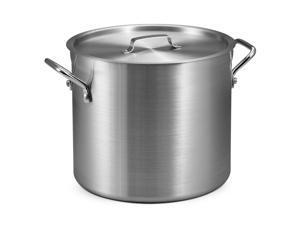 16 Qt. Aluminum Stock Pot with Lid