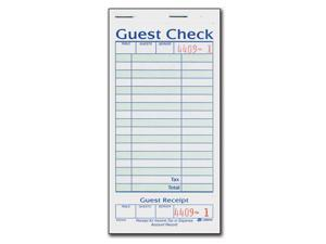 1-Part Guest Check with Stub - 20 books/50 Checks