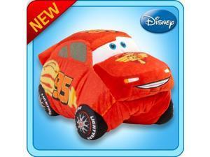 "Pillow Pets Authentic Disney Cars 18"" Lightning McQueen, Folding Plush Pillow"